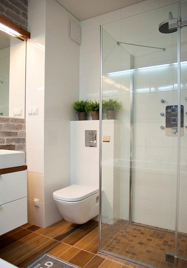 Kleines Bad Einrichten  51 Ideen Für Gestaltung Mit Dusche von Kleine Bäder Gestalten Beispiele Photo