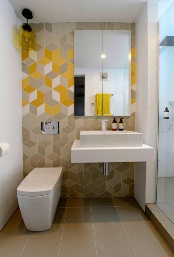 Kleines Badezimmer Groß Wirken Lassen  25 Beispiele von Spiegelschrank Für Kleines Bad Bild