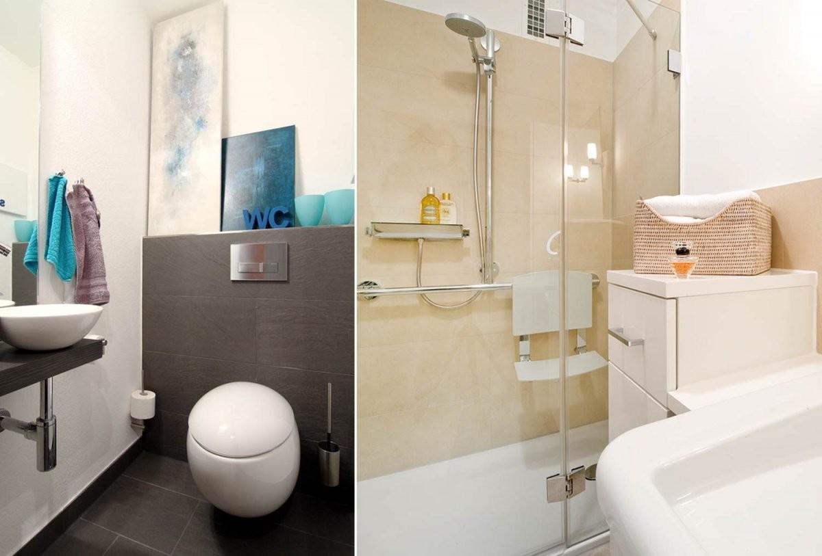 Kleines Badezimmer Ohne Fenster Gestalten  Badezimmer Kreativ von Kleines Bad Ohne Fenster Gestalten Bild