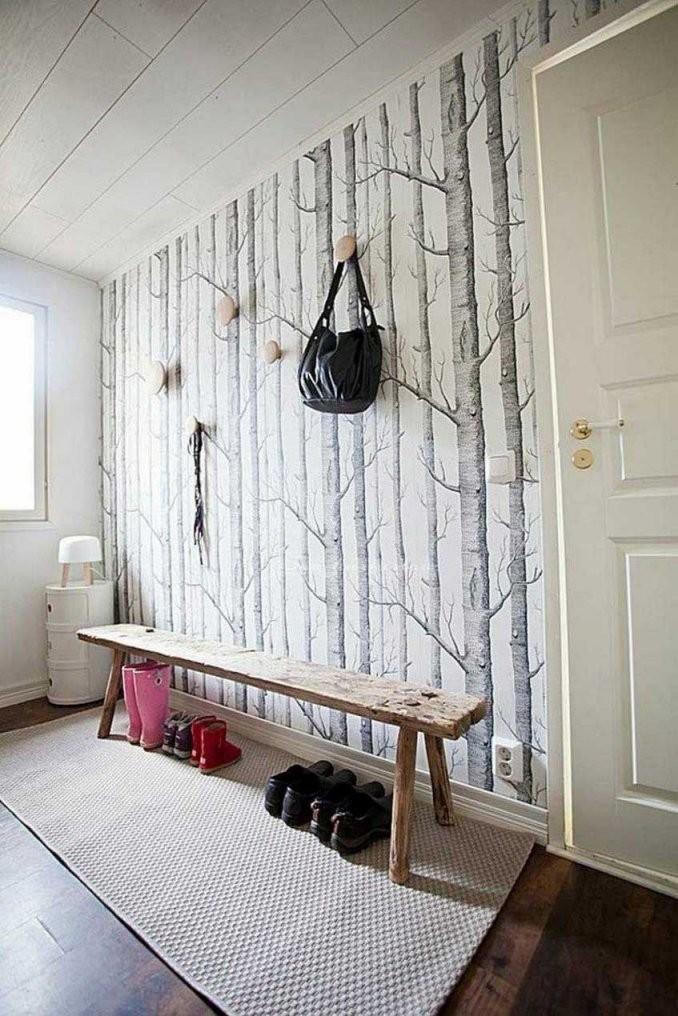 Kleines Wohnzimmer Tapete Birken Mit Kleines Birke von Tapete Birke Schwarz Weiß Photo