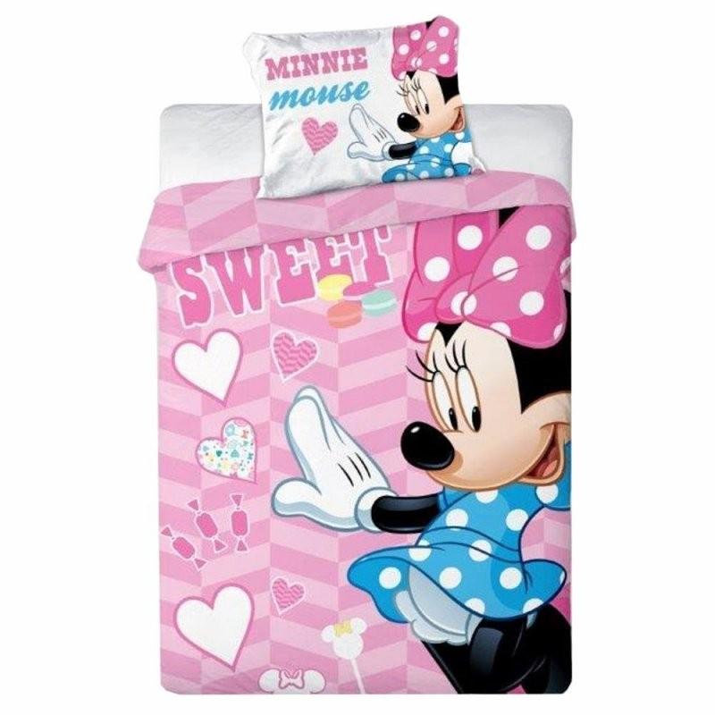 Kleinkind Bettwäsche Sweet  Minnie Maus Mouse  Baumwolle  100 X von Micky Und Minni Maus Bettwäsche Photo
