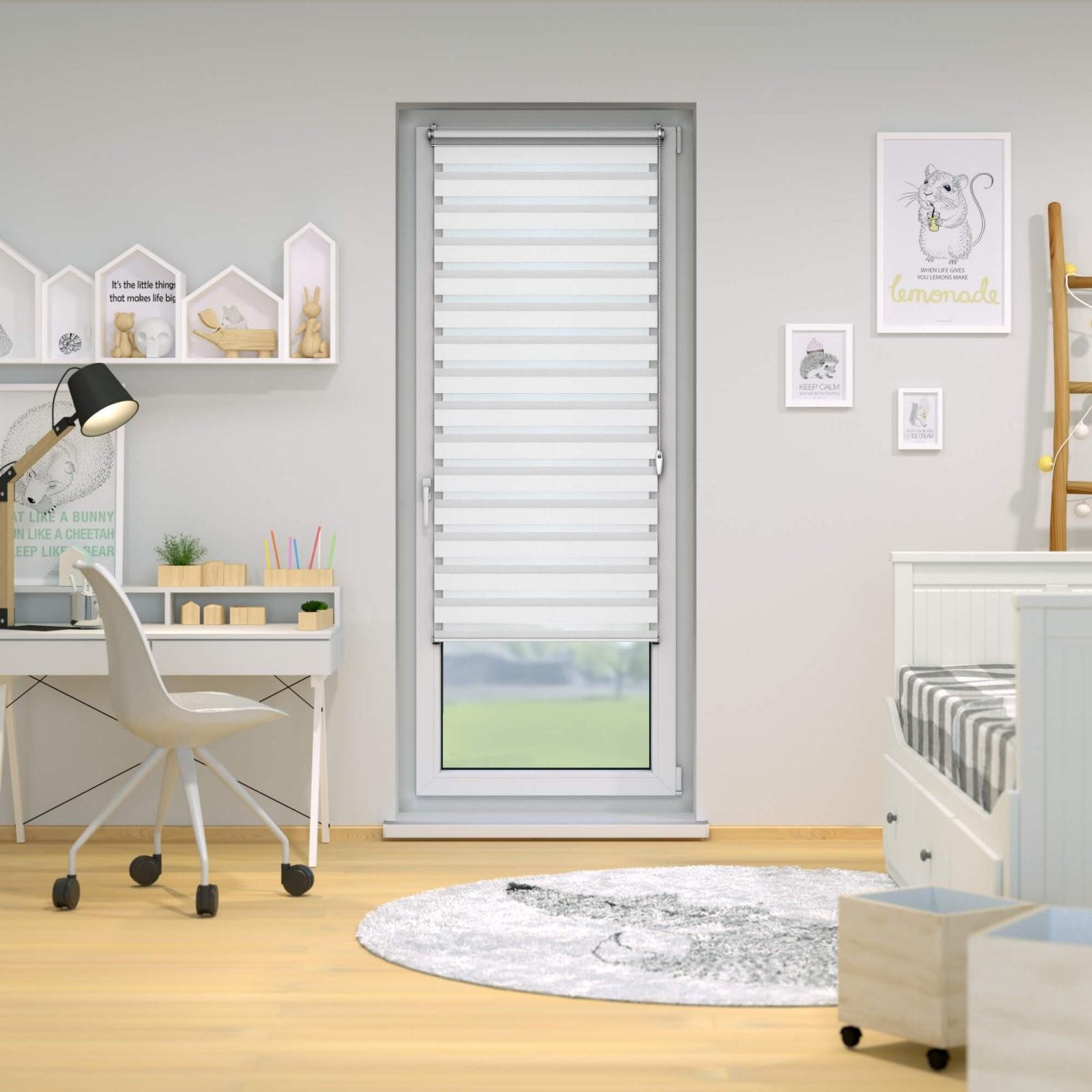 Klemmfix Doppelrollo Für Fenster  Victoria M Duo Rollo von Doppelrollo 180 Cm Breit Photo