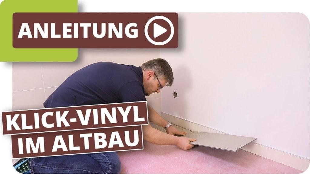 Klickvinyl Im Altbau  Bodenbelag Im Badezimmer Verlegen  Youtube von Vinylboden Im Bad Verlegen Bild