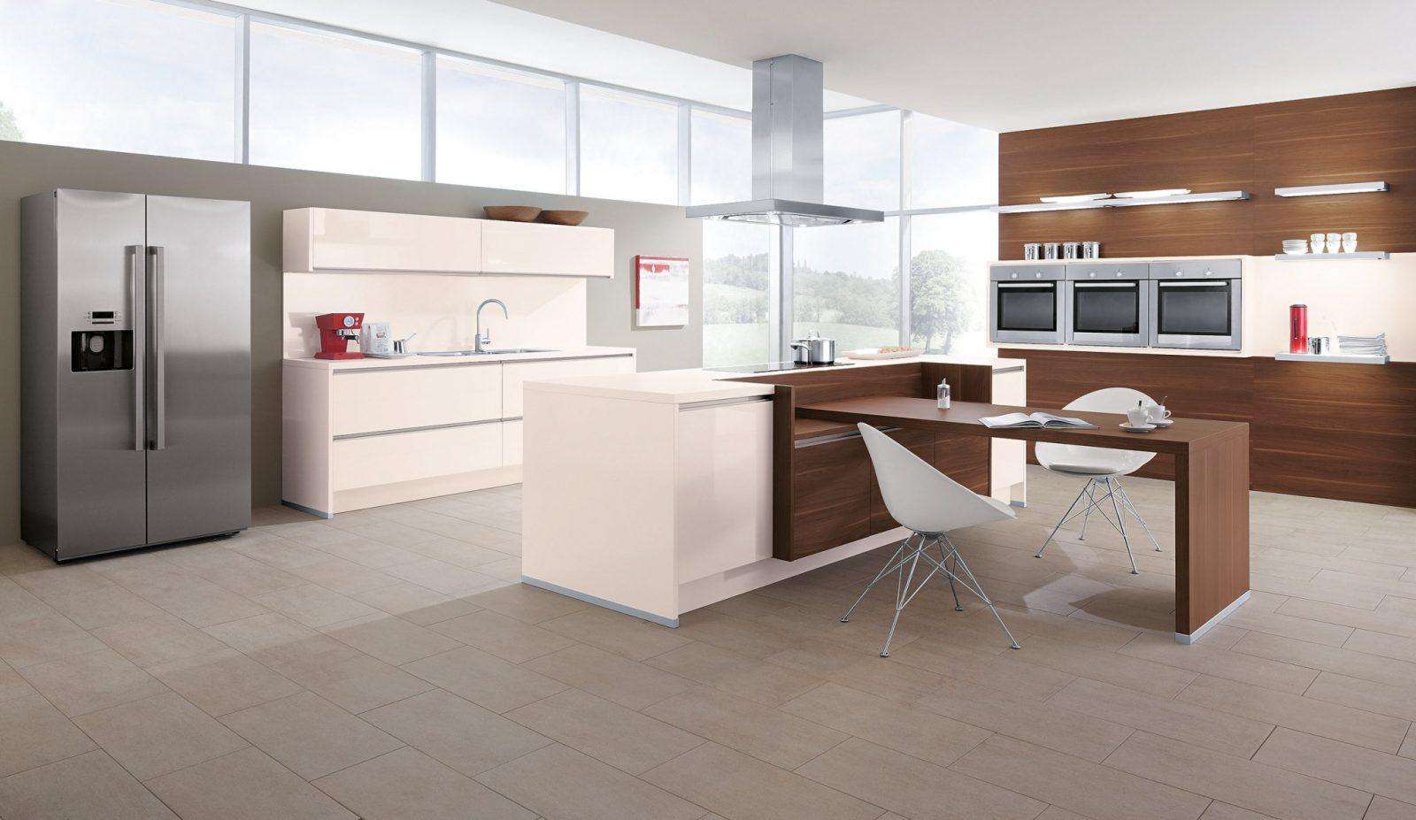 Kochinsel Mit Esstisch  Wohndesign Und Innenraum Ideen von Kochinsel Mit Integriertem Tisch Bild