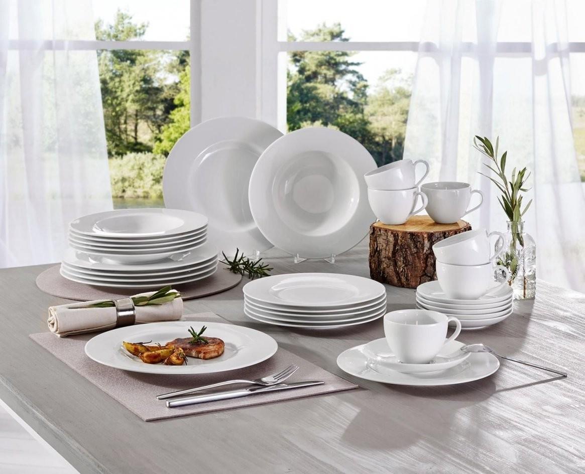 Kombiservice 30Teilig  Geschirr  Tischdeko  Kombiservice von Villeroy Und Boch Geschirr Basic White Photo