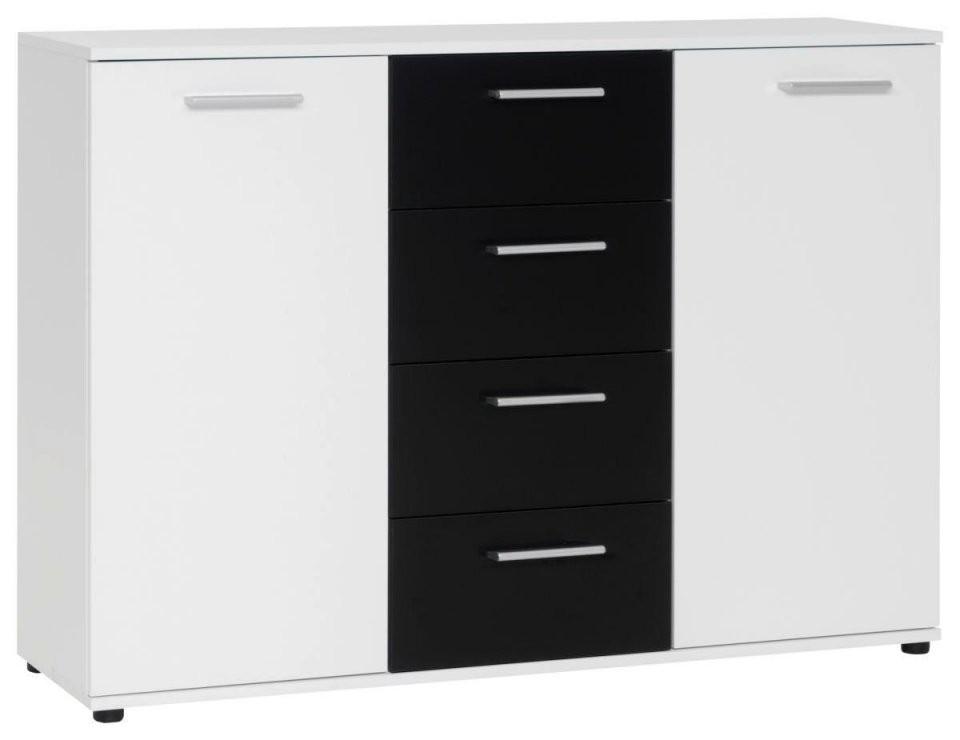 Kommode Jacky Weißschwarz 120 Cm ▷ Online Bei Poco Kaufen von Kommode Weiß Hochglanz 120 Cm Breit Photo