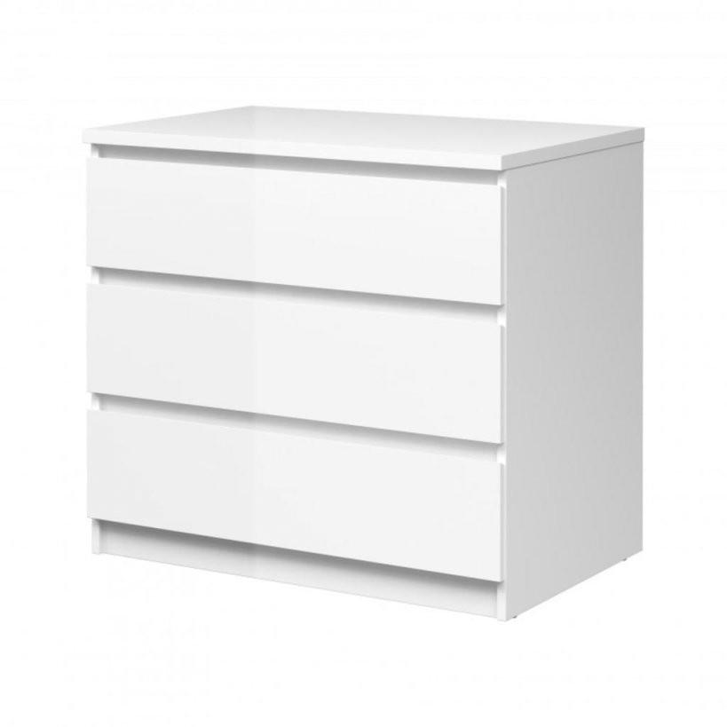 Kommode Naia Anrichte Sideboard Schlafzimmer Weiß H  Real von Kommode Weiß Hochglanz 6 Schubladen Photo