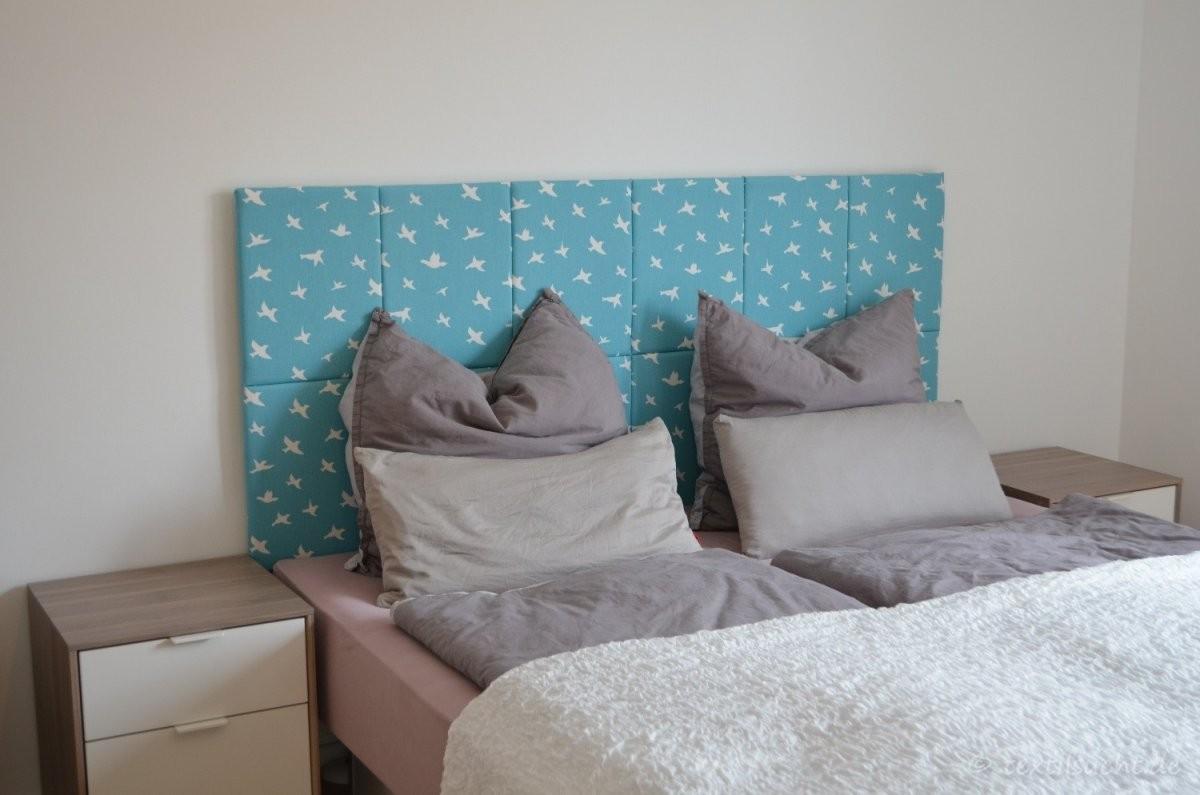 Kopfteil Für's Bett Selber Bauen  Textilsucht® von Rückwand Bett Selber Bauen Photo