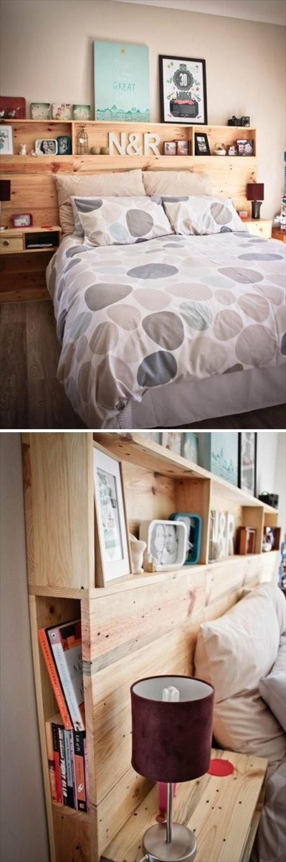Kopfteil Selber Bauen  Haus  Europaletten Bett Kopfteile Und Bett von Bett Kopfteil Holz Selber Bauen Bild