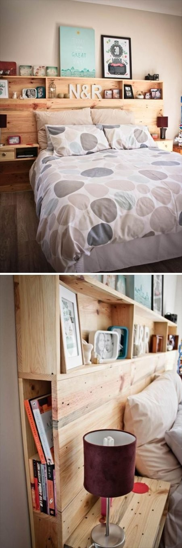 Kopfteil Selber Bauen  Haus  Europaletten Bett Kopfteile Und Bett von Rückwand Bett Selber Bauen Bild