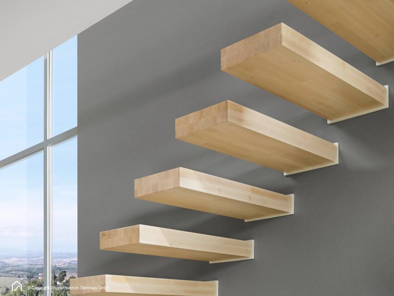 Kragarmtreppe Sydney Ab Lager Kaufen  Treppen Intercon von Treppe An Der Wand Bild