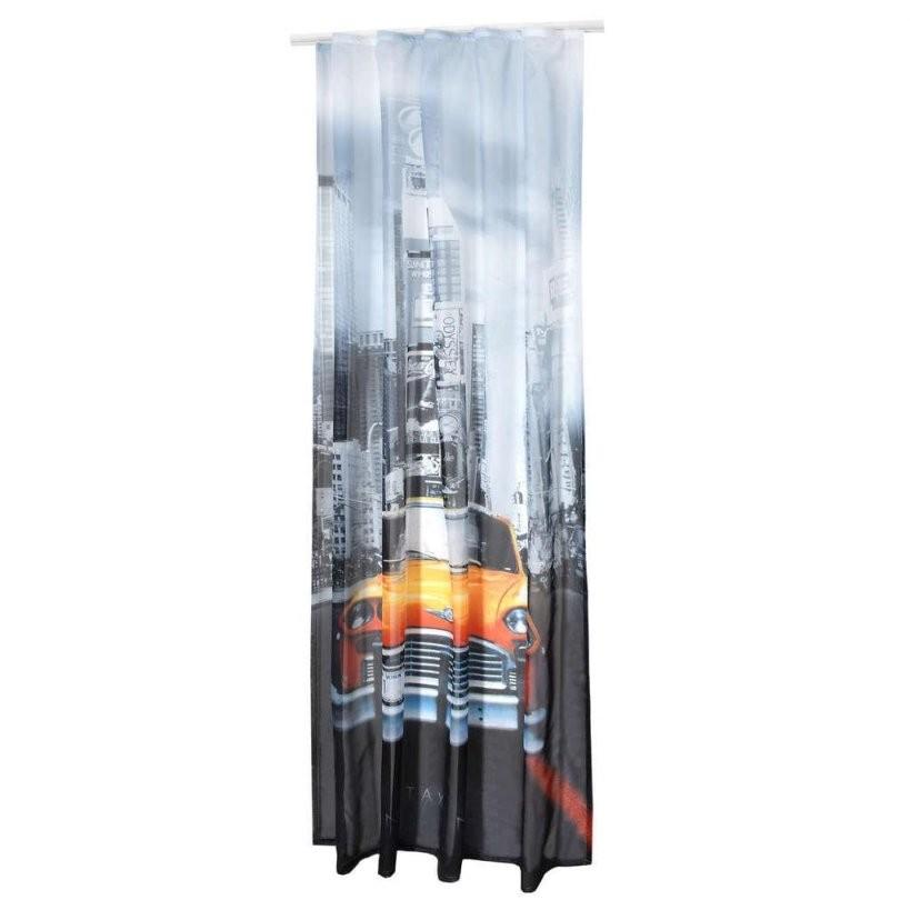 Kräuselband Gardine Vorhang Newyork Fotomotiv  Real von Gardinen Mit Kräuselband Aufhängen Bild