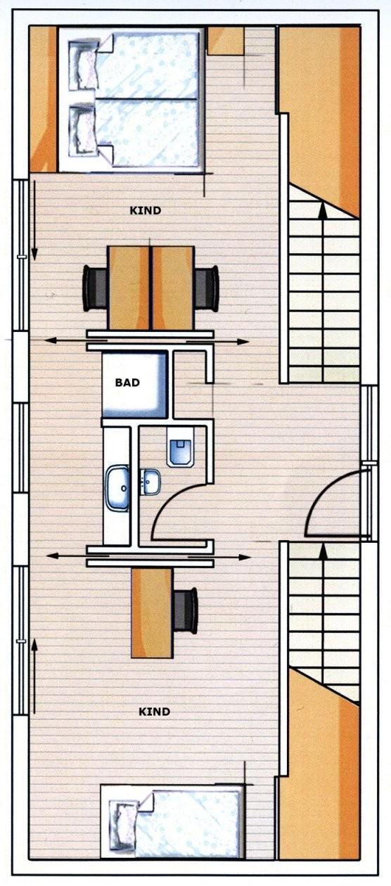 Kreativ Geplant Mit Hang Zum Glück  Neubau  Hausideen So Wollen von Langes Schmales Haus Grundriss Bild