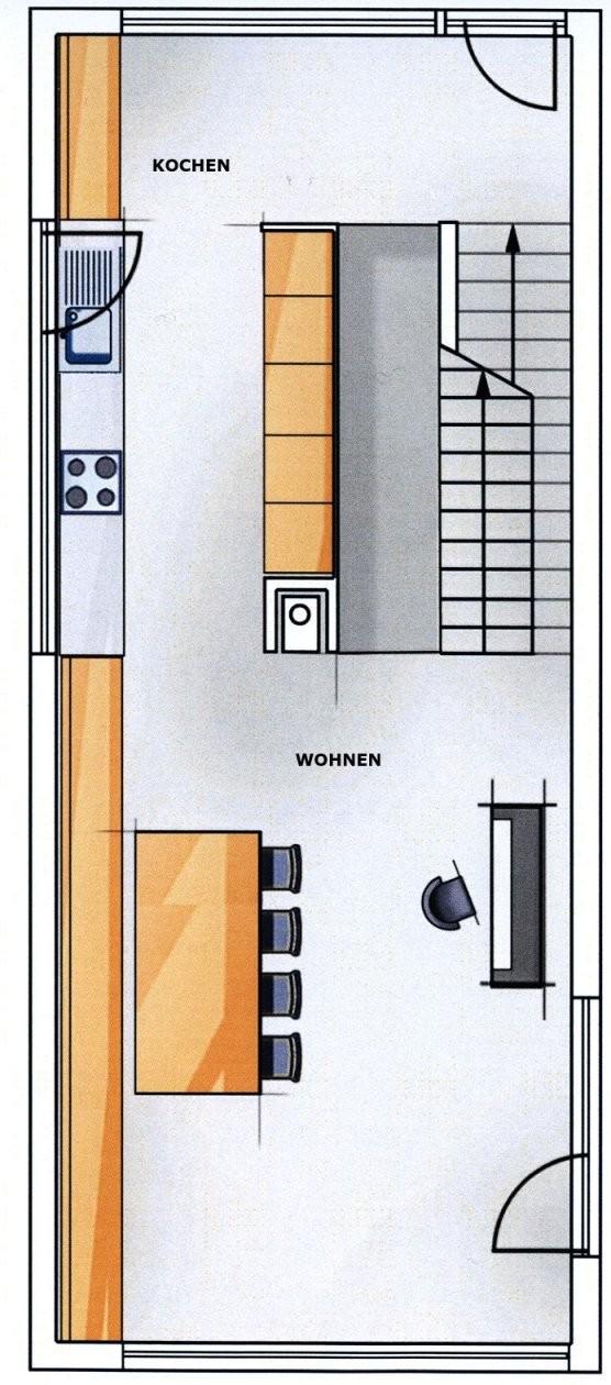 Kreativ Geplant Mit Hang Zum Glück  Neubau  Hausideen So Wollen von Langes Schmales Haus Grundriss Photo