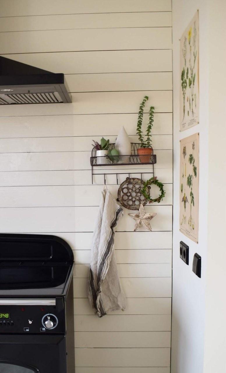 küche dekoideen wand landhaus dekorieren aufbewahrung deko