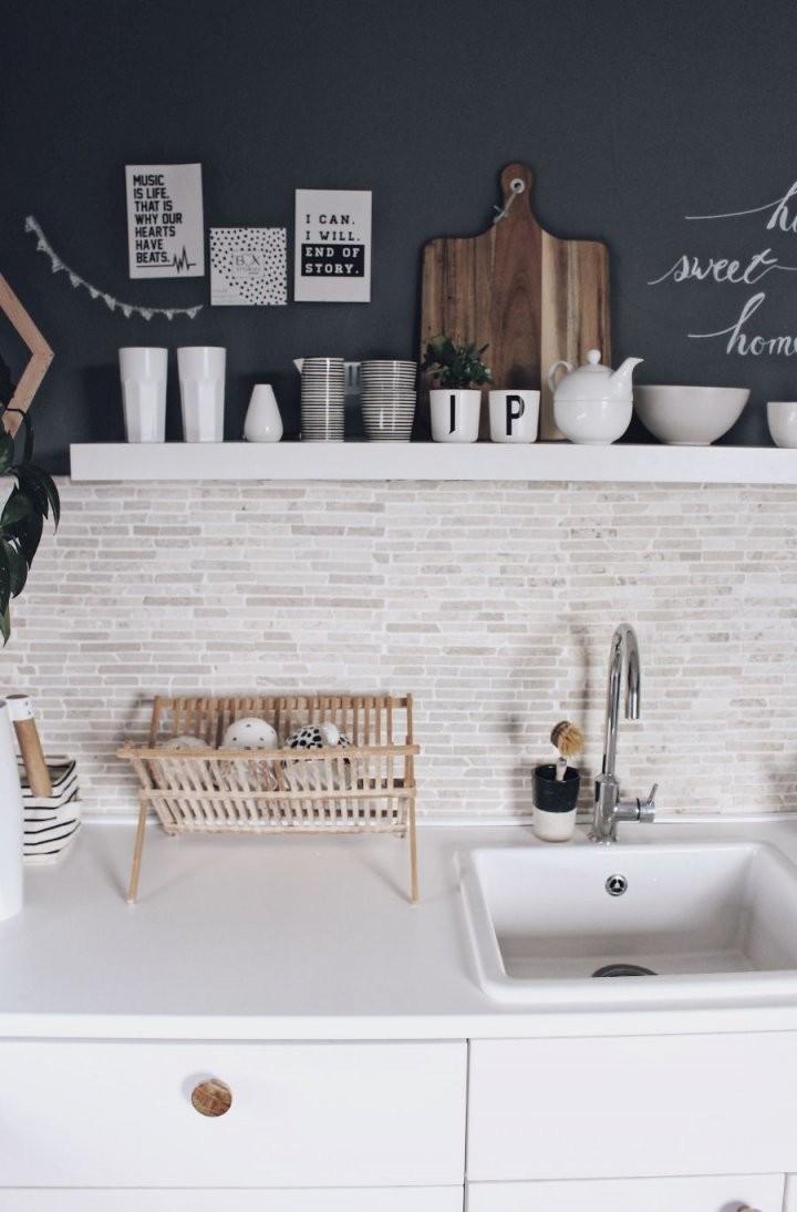 Küche Neu Gestalten  Schnell Und Einfach Mit Tafelfarbe  И von Deko Ideen Küche Wand Bild