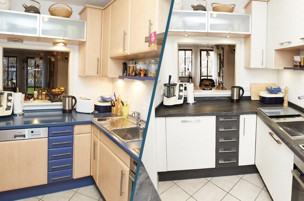 Küche Verschönern  Das Vorher  Nachher Projekt  Elha Service von Küche Verschönern Vorher Nachher Bild