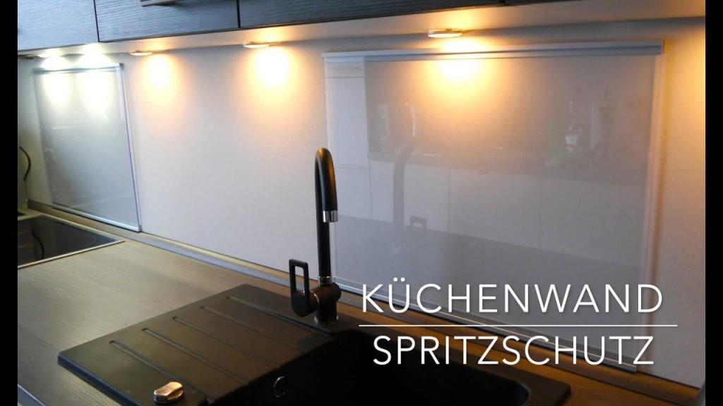 Küchen Wand Spritzschutz Aus Plexiglas  Selber Bauen  Anleitung von Spritzschutz Küche Selber Machen Bild