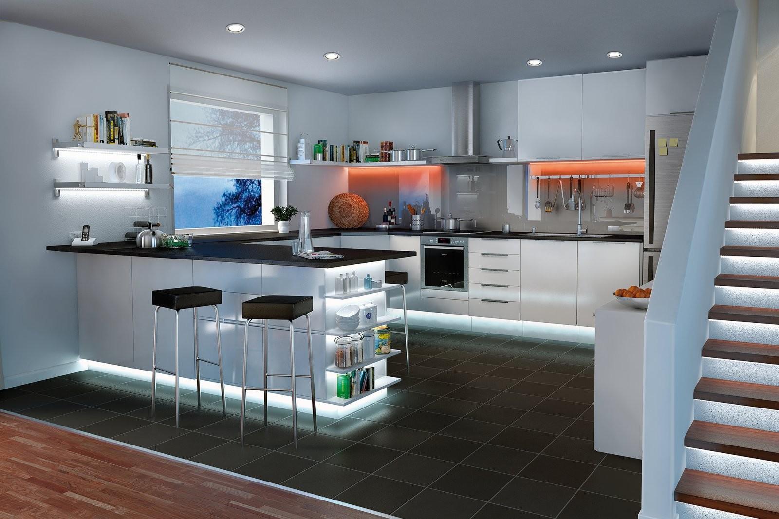 Küchenbeleuchtung  Funktional Und Stimmungsvoll  Paulmann Licht von Beleuchtung Küche Ohne Oberschränke Bild