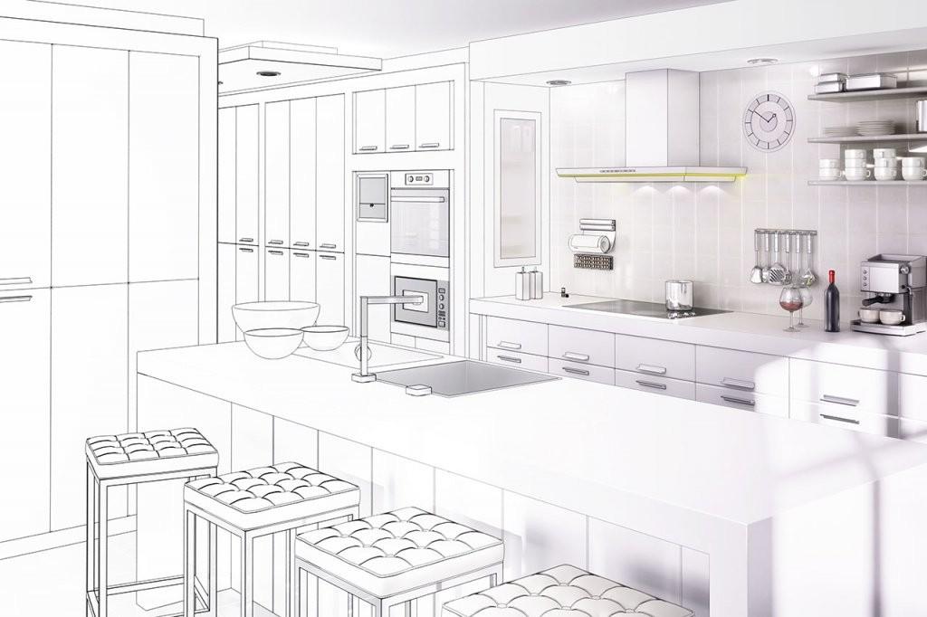 Küchenformen – Küche In Uform Lform Iform Oder Inselküche von Grundriss Küche Mit Kochinsel Photo