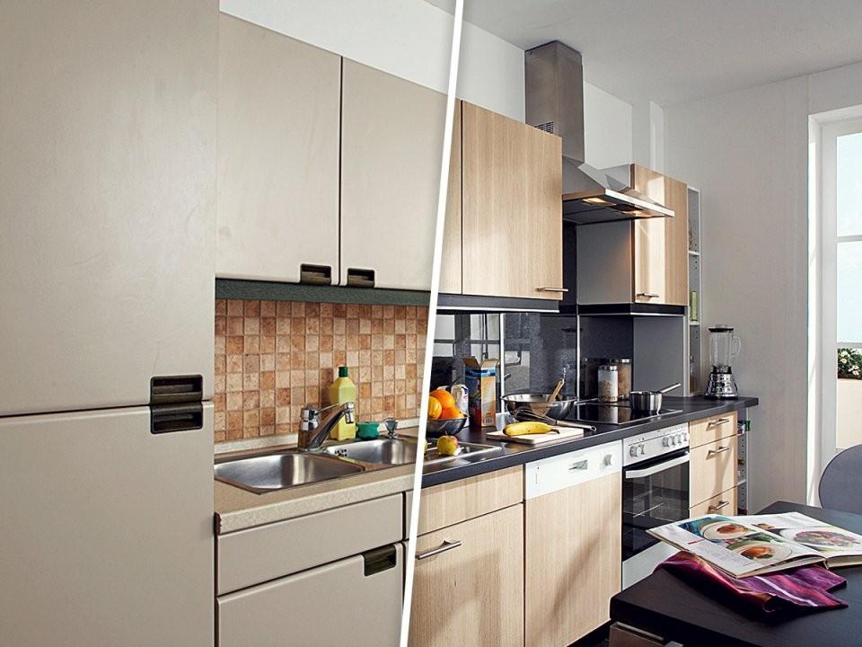Küchenfronten Erneuern Alt Gegen Neu von Küche Neu Gestalten Renovieren Bild
