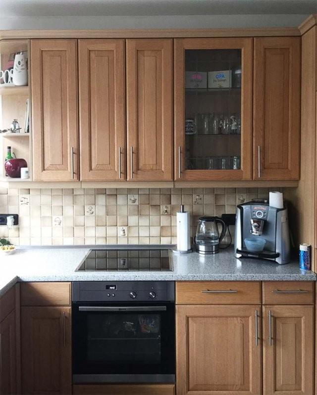 Küchenfronten Lackieren Lassen Vom Spezialisten  Mink Gmbh von Küchenfronten Lackieren Vorher Nachher Photo