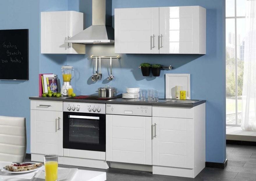 Küchenleerblock Hochglanz Weiß Ohne Geräte Online Kaufen  Kuechen von Küchenzeile 220 Cm Ohne Geräte Bild
