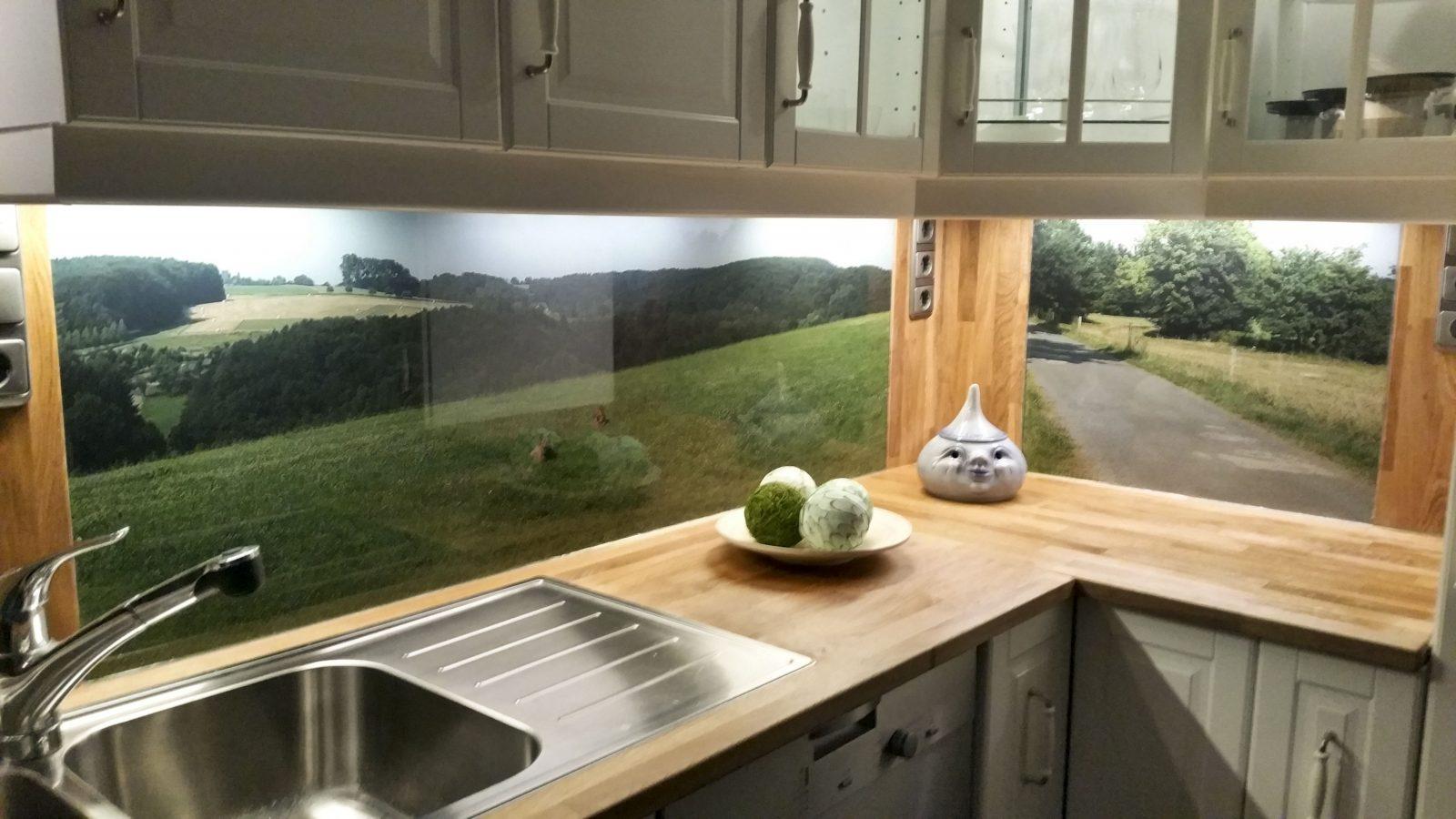 Küchenrückwand Aus Esgglas Mit Eigenem Motiv  Кухня In 2019 von Spritzschutz Küche Selber Machen Bild