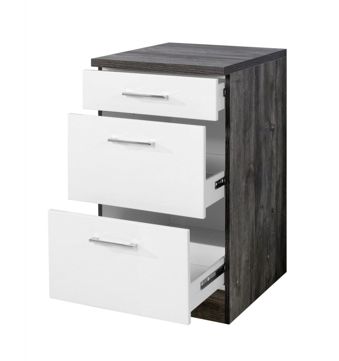 Küchenunterschrank Lissabon  3 Schubladen  50 Cm Breit von Badezimmer Unterschrank 50 Cm Breit Photo
