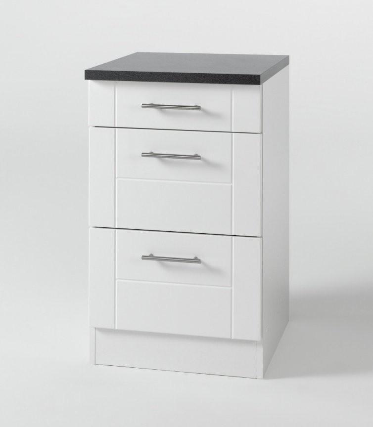 Küchenunterschrank Nevada  3 Schubladen  50 Cm Breit  Hochglanz von Waschbecken Mit Unterschrank 50 Cm Bild