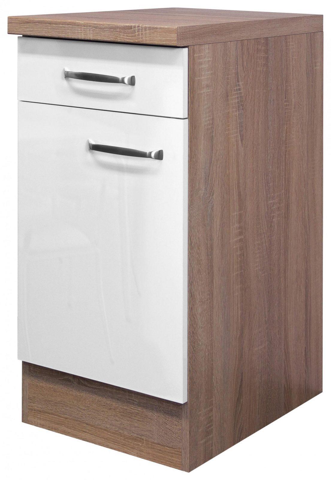 Küchenunterschrank Weiß Hochglanzeiche Online Kaufen Mömax von Küchen Unterschrank Ohne Arbeitsplatte Photo