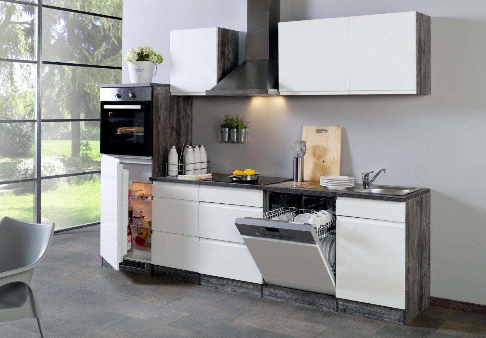 Küchenzeile Cardiff  Küche Mit Egeräten  Breite 280 Cm von Küchen Günstig Mit E Geräten Bild