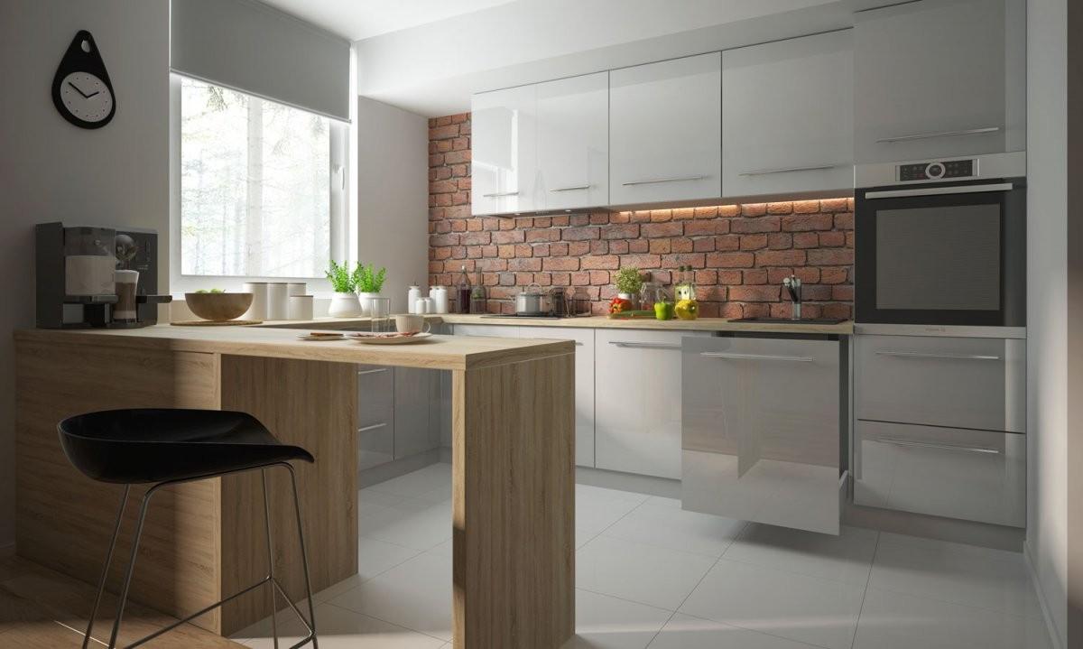 Küchenzeile Küchenblock Einbauküche Modern 90X270X280Cm Uform 11 von Küchen Modern U Form Photo
