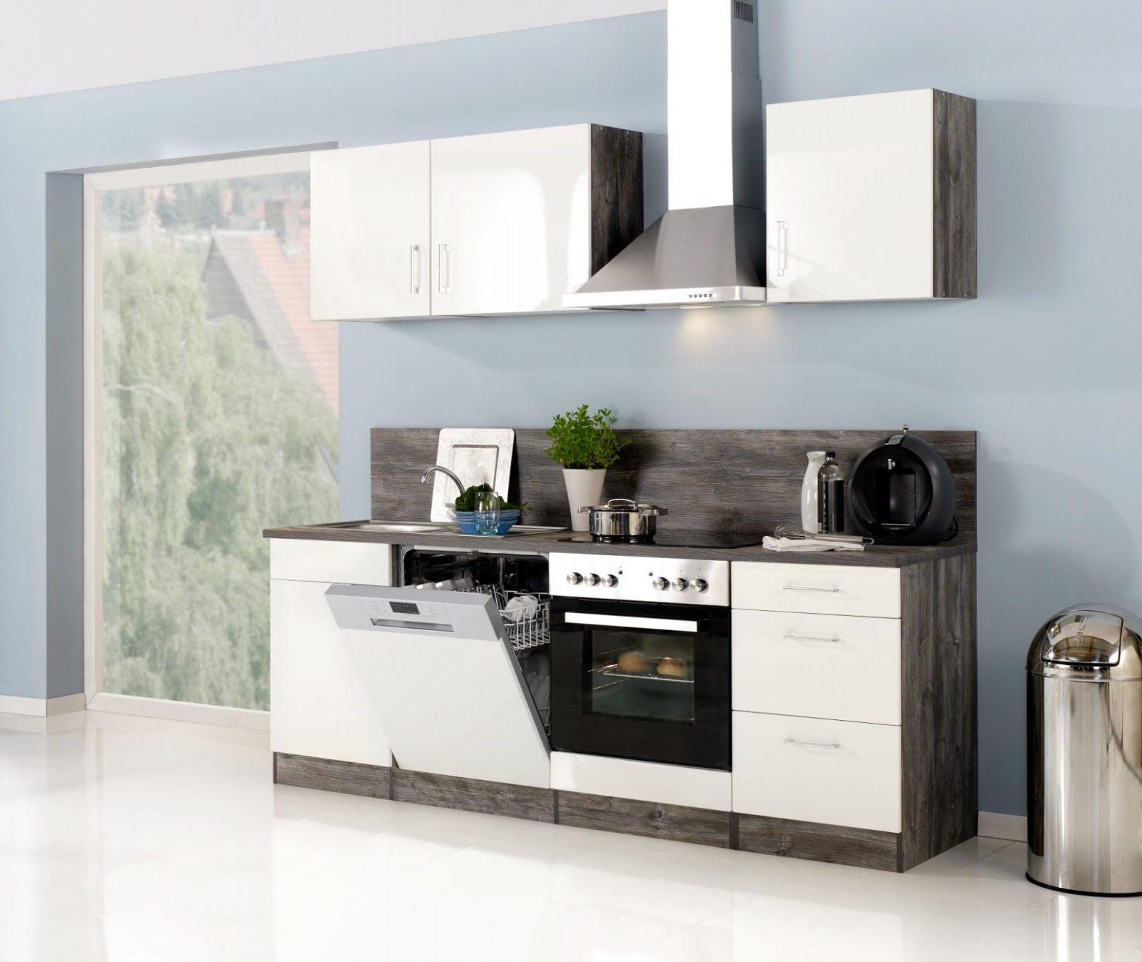 Küchenzeile Lissabon  Küche Mit Egeräten  Breite 220 Cm von Küchen Günstig Mit E Geräten Photo