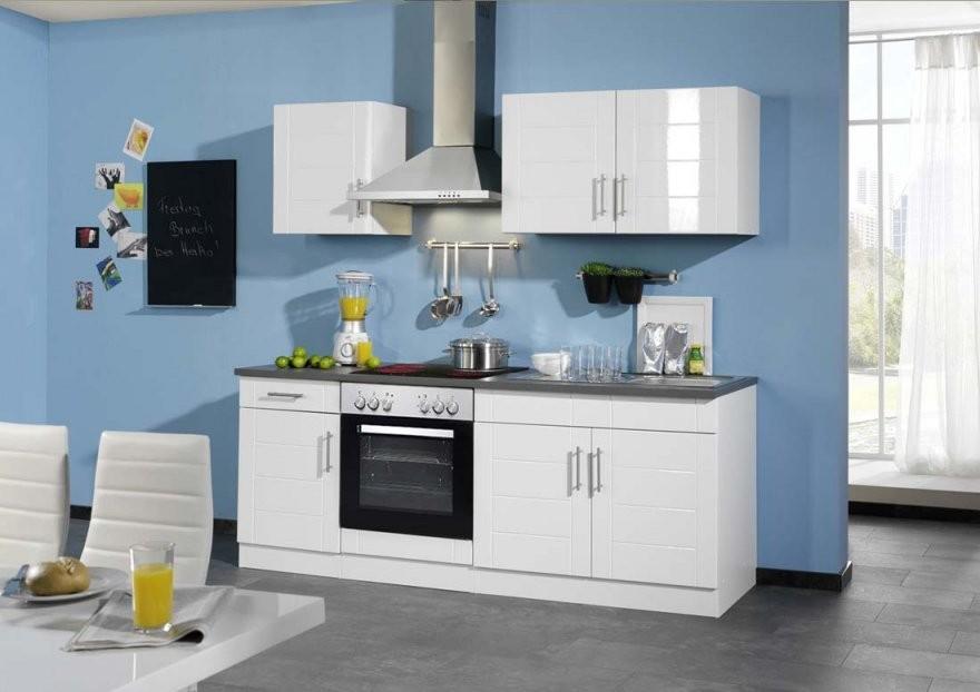 Küchenzeile Ohne Kühlschrank In Hochlganz Weiss  Kuechen von Küche Mit E Geräten Ohne Kühlschrank Photo