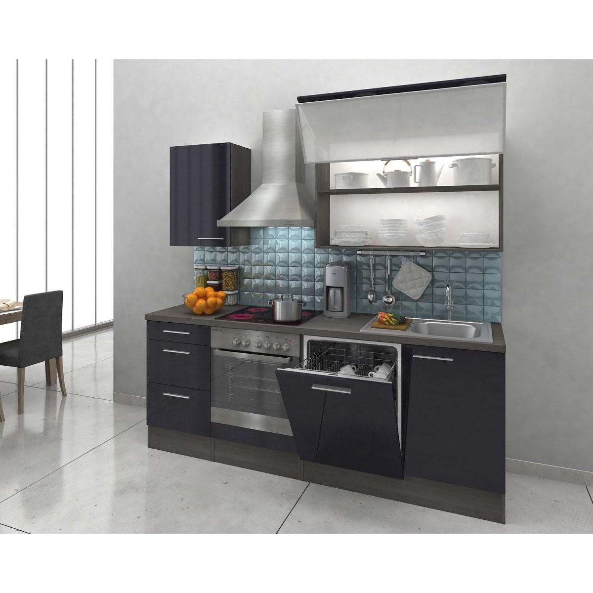 Kühlschrank  Kuechenmoebel  Kuechenzeilen  Singlekuechen von Küchenzeile 220 Cm Ohne Geräte Bild
