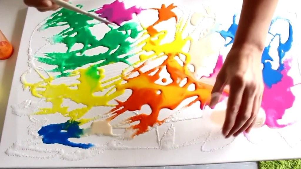 Kunst Malerei  Abstraktes Schönes Bild Selber Machen   Youtube von Abstrakte Acrylbilder Selber Malen Bild