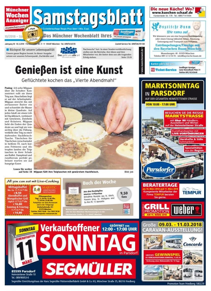 Kw 102018Wochenanzeiger Medien Gmbh  Issuu von Segmüller Parsdorf Verkaufsoffener Sonntag Bild