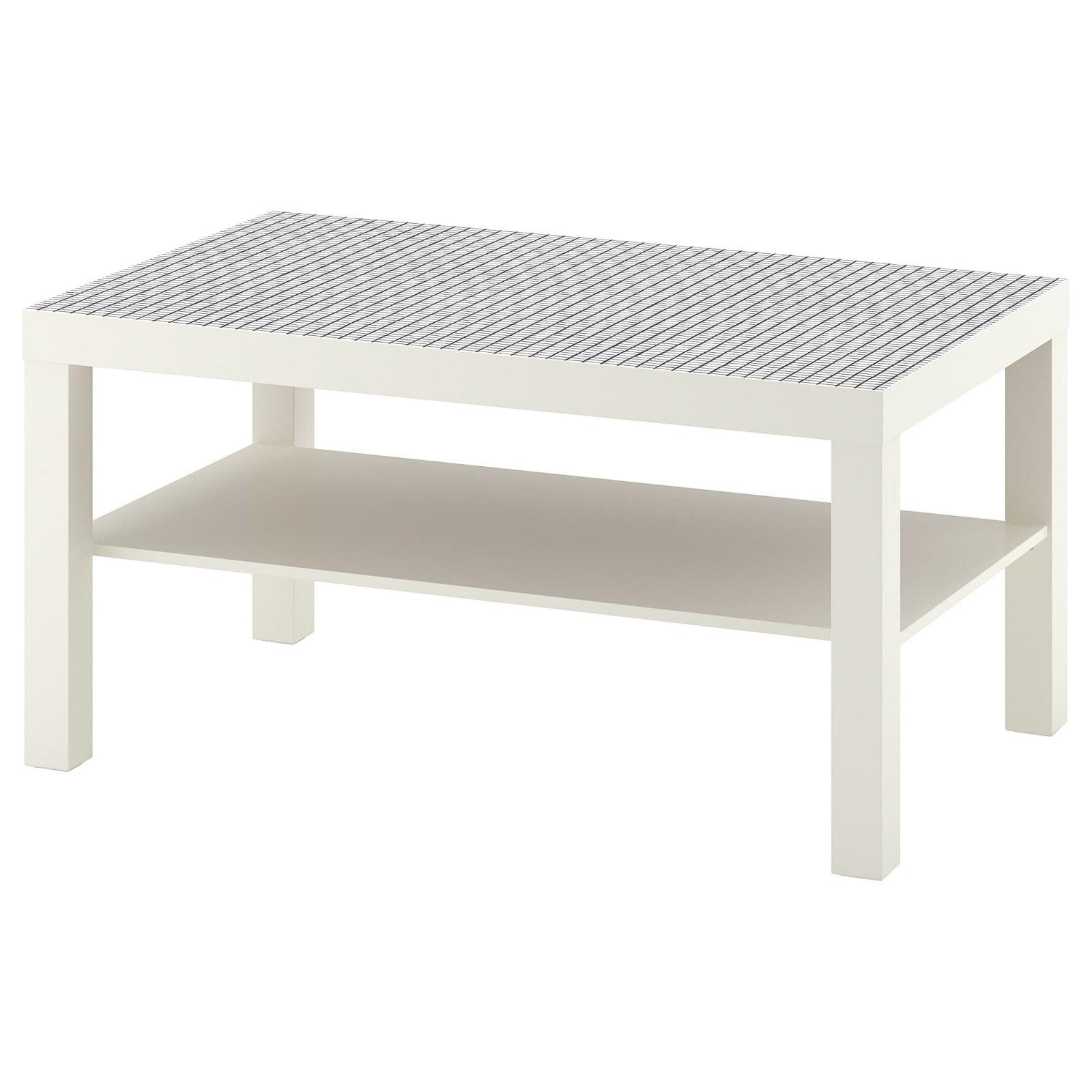 Lack Couchtisch  Weiß Karos  Ikea von Couchtisch Mit Schublade Ikea Bild