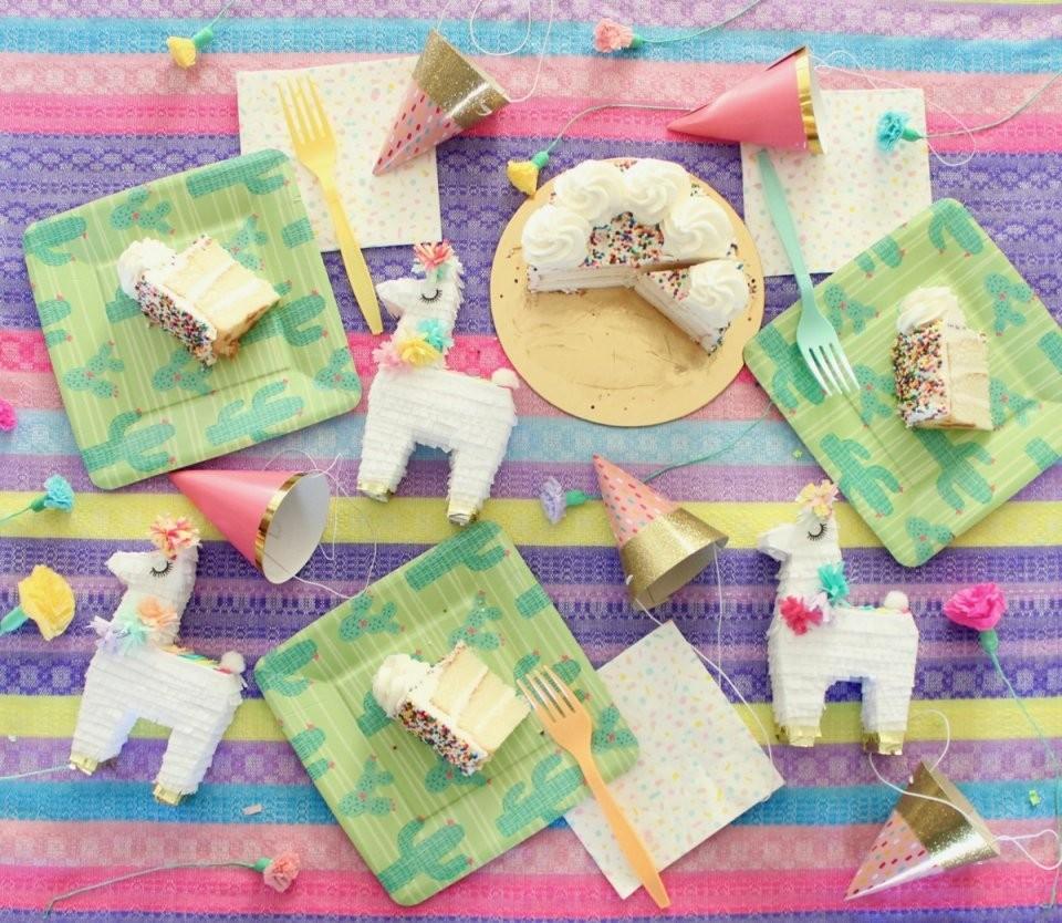 Lama Deko Für Die Party Zusammenstellen Und Basteln Mit Diesen Ideen von Tischdeko Kindergeburtstag Selber Basteln Bild