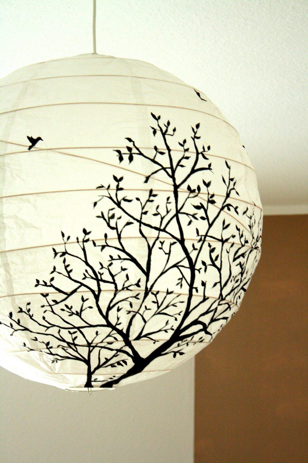 Lampe  Diy  Lampenschirm Selber Machen Papierlampen Und Lampen von Lampenschirm Gestell Selber Machen Bild