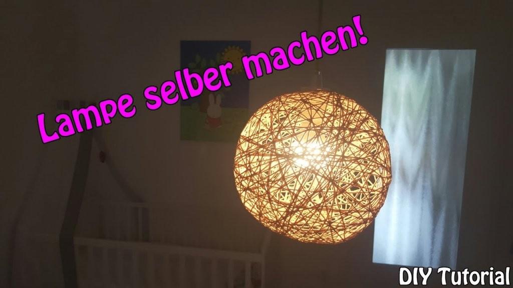 Lampe  Lampenschirm Selber Machen  Basteln Für Anfänger  Diy von Lampenschirm Drahtgestell Selber Machen Bild