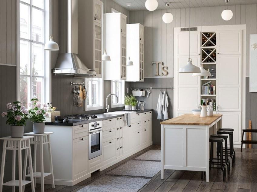Landhausküche In Der Grossen Stadt  Ikea von Ikea Küche Metod Bodbyn Photo