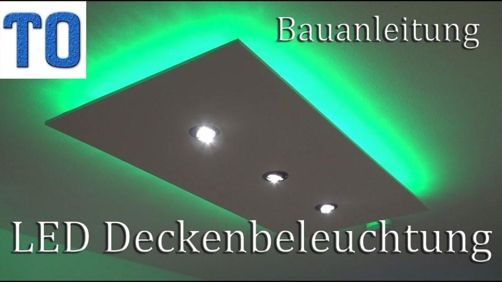 Led Deckenleuchte Selber Bauen  Direktes Und Indirektes Led Licht von Indirekte Deckenbeleuchtung Selber Bauen Bild
