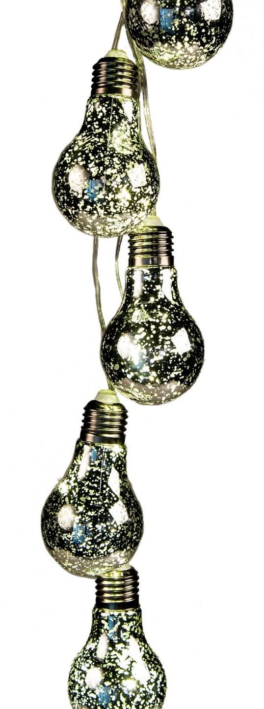 Led Lichterkette 5 Glühbirnen Silber Batterie Beleuchtung Deko Lampe von Bilder Beleuchtung Mit Batterie Bild
