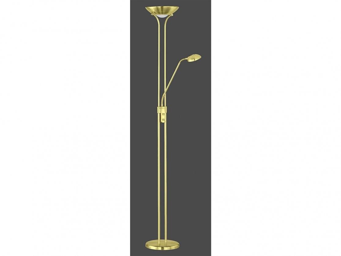 Led Stehleuchte Dimmbar Stehlampe Deckenfluter + Flex Leselicht In von Led Stehleuchten Dimmbar Messing Bild