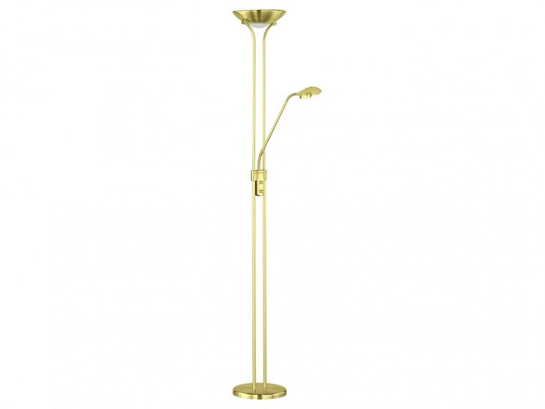 Led Stehleuchte Dimmbar Stehlampe Deckenfluter + Flex Leselicht In von Led Stehleuchten Dimmbar Messing Photo