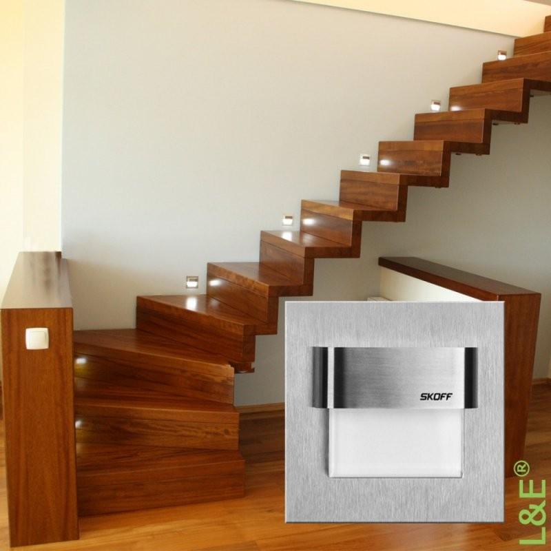 Led Treppenbeleuchtung Typ Tango Treppenleuchte Edelstahl von Led Treppenlicht Mit Bewegungsmelder Bild