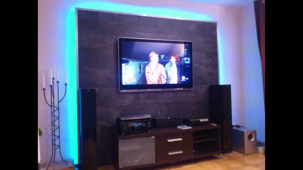 Led Tv Wand Selber Bauen Cinewall Do It Yourself  Youtube von Tv Wand Selber Bauen Laminat Bild