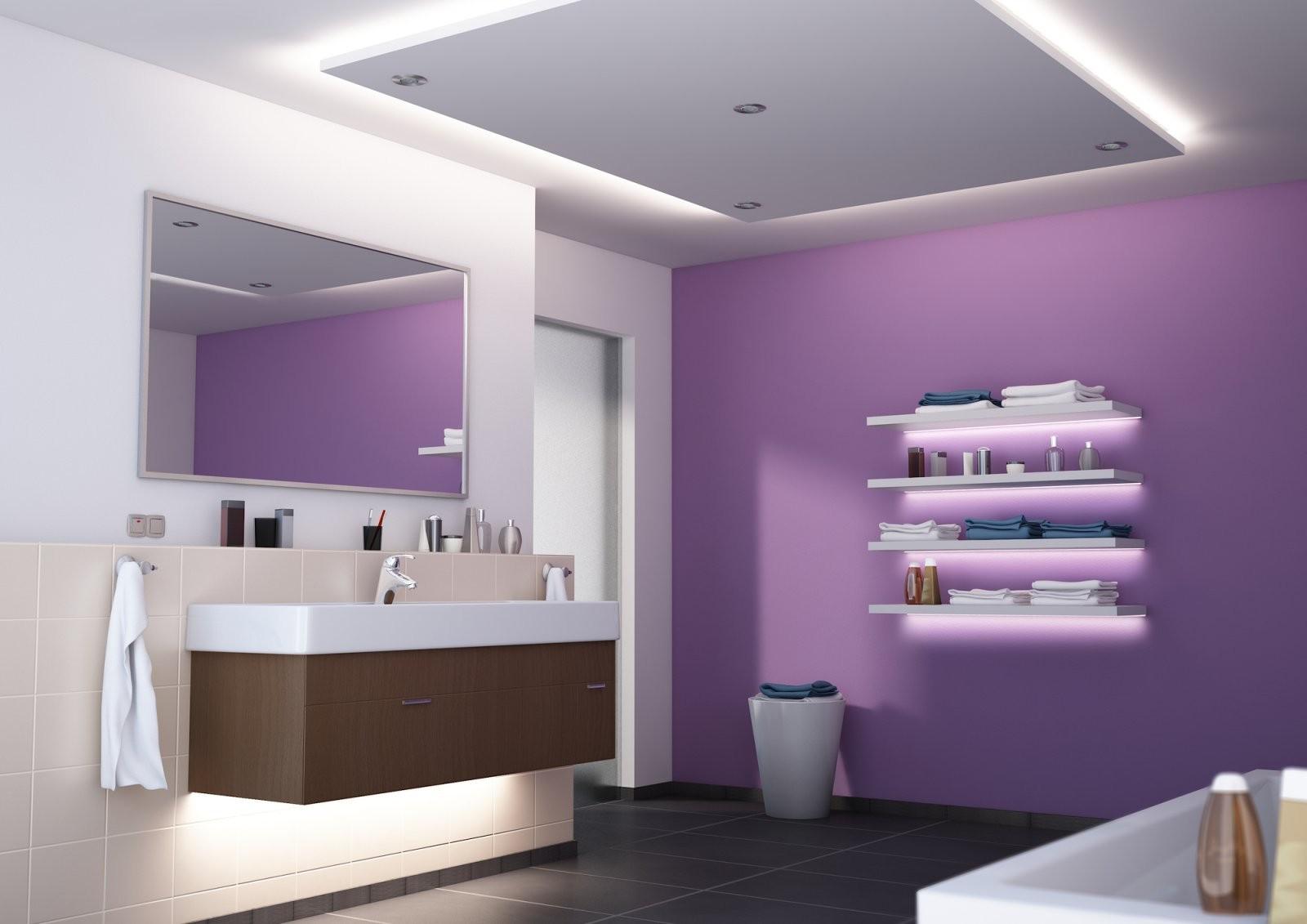 Ledbeleuchtung Im Bad Wellness Im Badezimmer Mit Ledstrips von Led Leinwandbild Selber Machen Photo